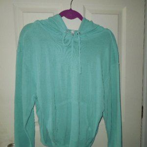 NWT Free People Cut Out Back Hoodie Size M